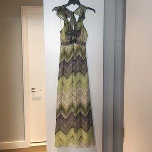 Kale Bob silk maxi dress